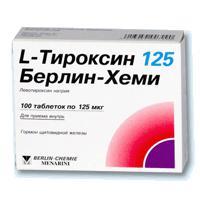 L-ТИРОКСИН 125 БЕРЛИН-ХЕМИ ТАБ 0,125МГ N100 УП КНТ-ЯЧ ПК 25*4